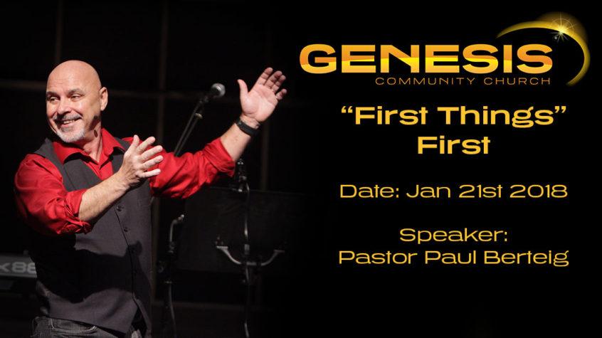 First things first - Paul Berteig